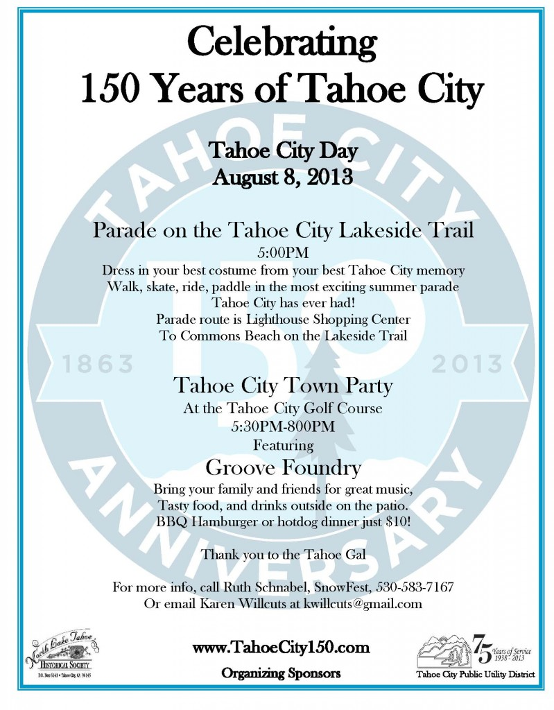 August 8 Parade and Party flyer